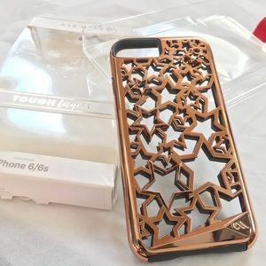iPhone 6/6s PHONE CASE MATE rose gold chrome STARS